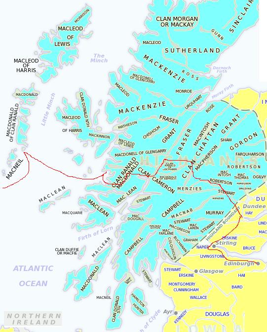 Les territoires des clans écossais