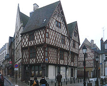 D'anciennes maisons à colombages
