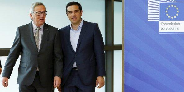 Alexis Tsipras en présence d'un des donneurs de leçons