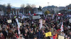 Manifestation de la fonction publique à Genève novembre 2015