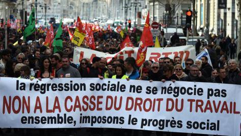 Mobilisation syndicale contre la loi travail