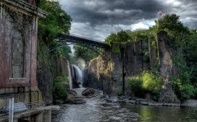Vue de la chute d'eau de Paterson
